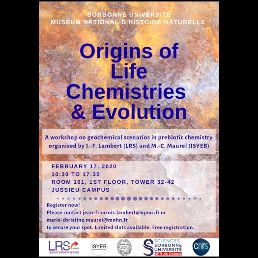 Inscriptions workshop Origins of Life
