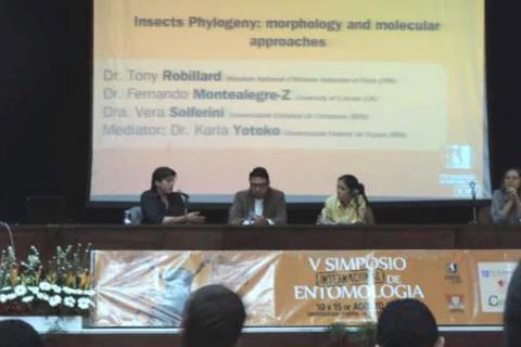 Invited conference at the Panel discussion « Insect Phylogeny » at the Federal University of Viçosa,  Brazi